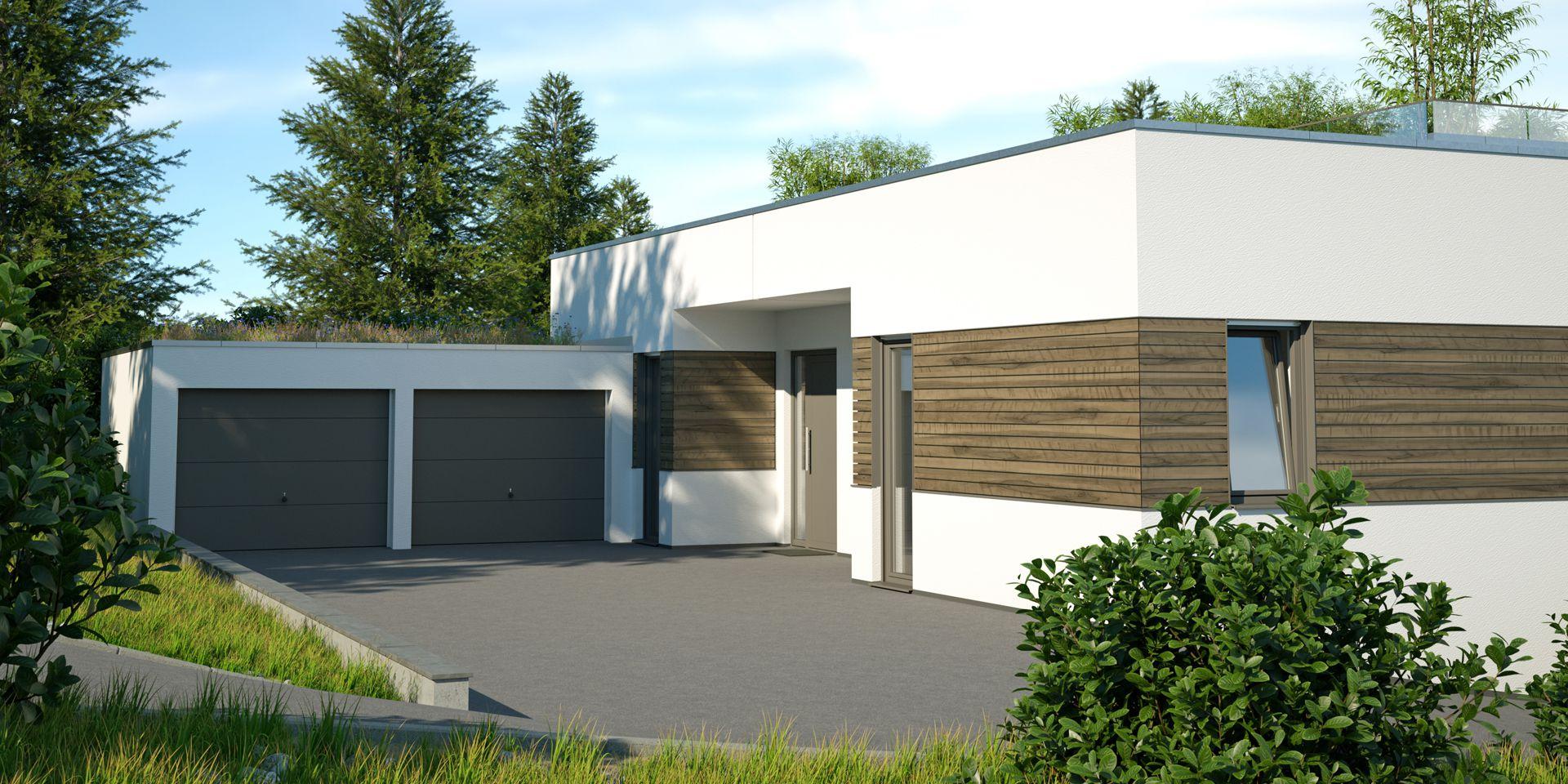 Visualisierung Doppelhaus - Plankosmos 3D Architekturvisualisierung