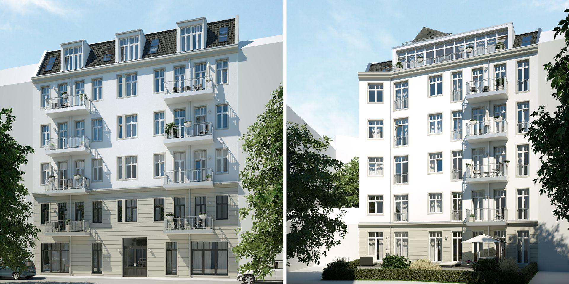 Architekturvisualisierung Altbausanierung Exterieur Berlin
