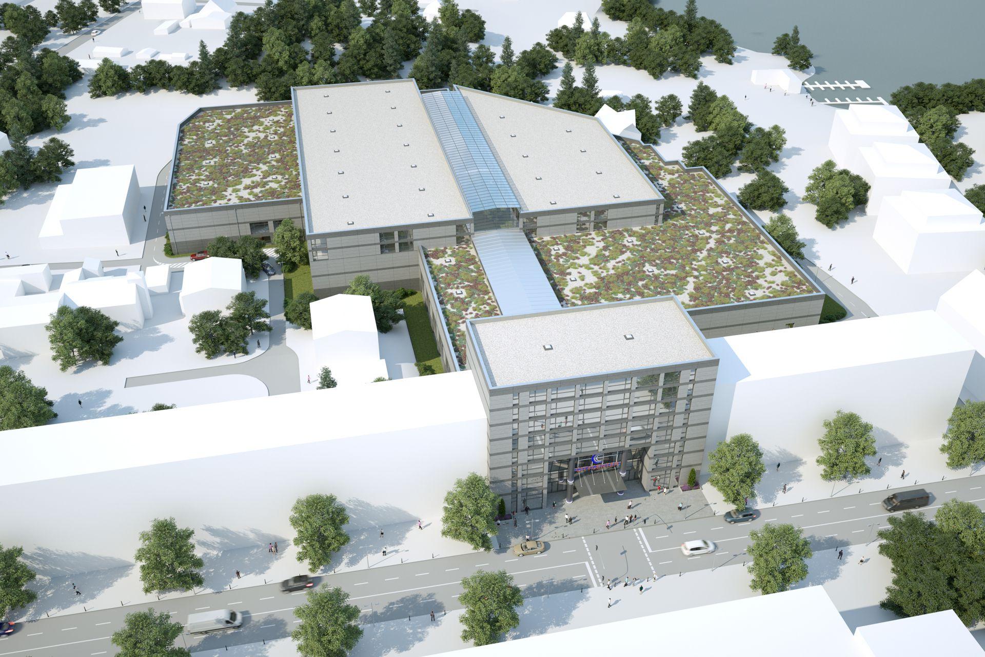 Architekturvisualisierung Einkaufszentrum Erkner Berlin
