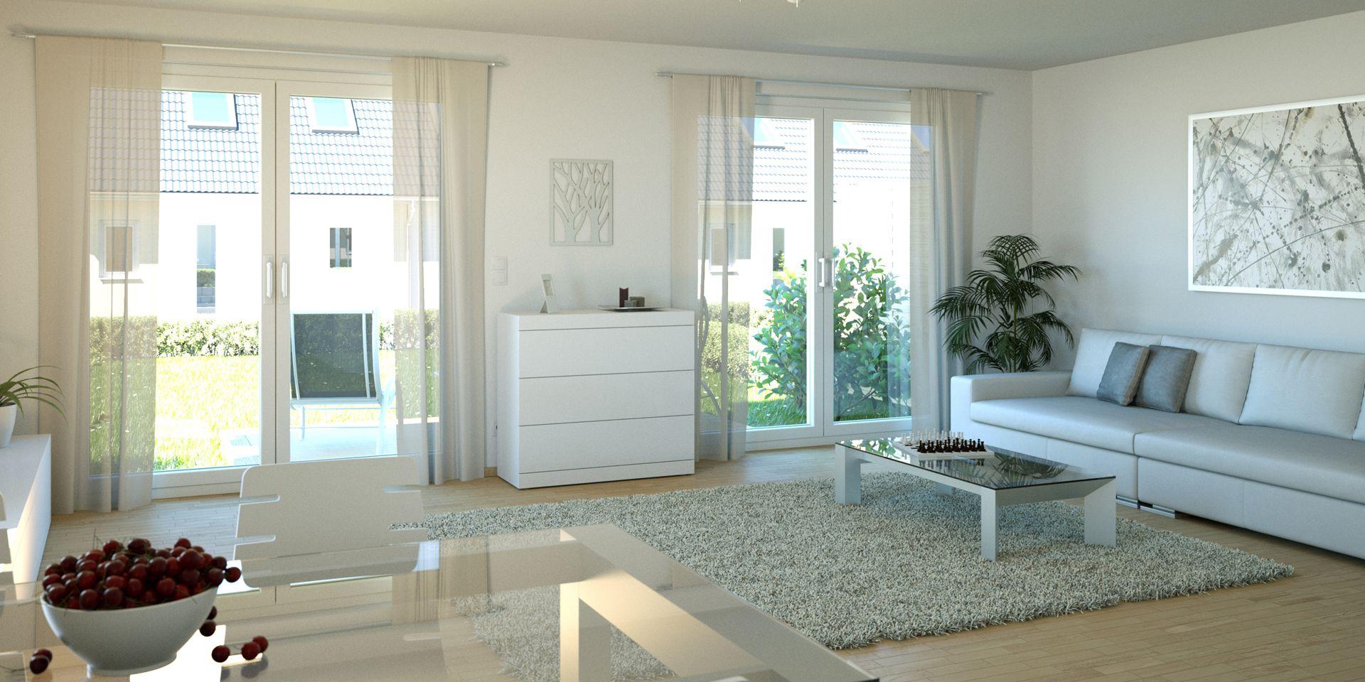 Visualisierung Reihenhaussiedlung Tarup Flensburg Wohnzimmer