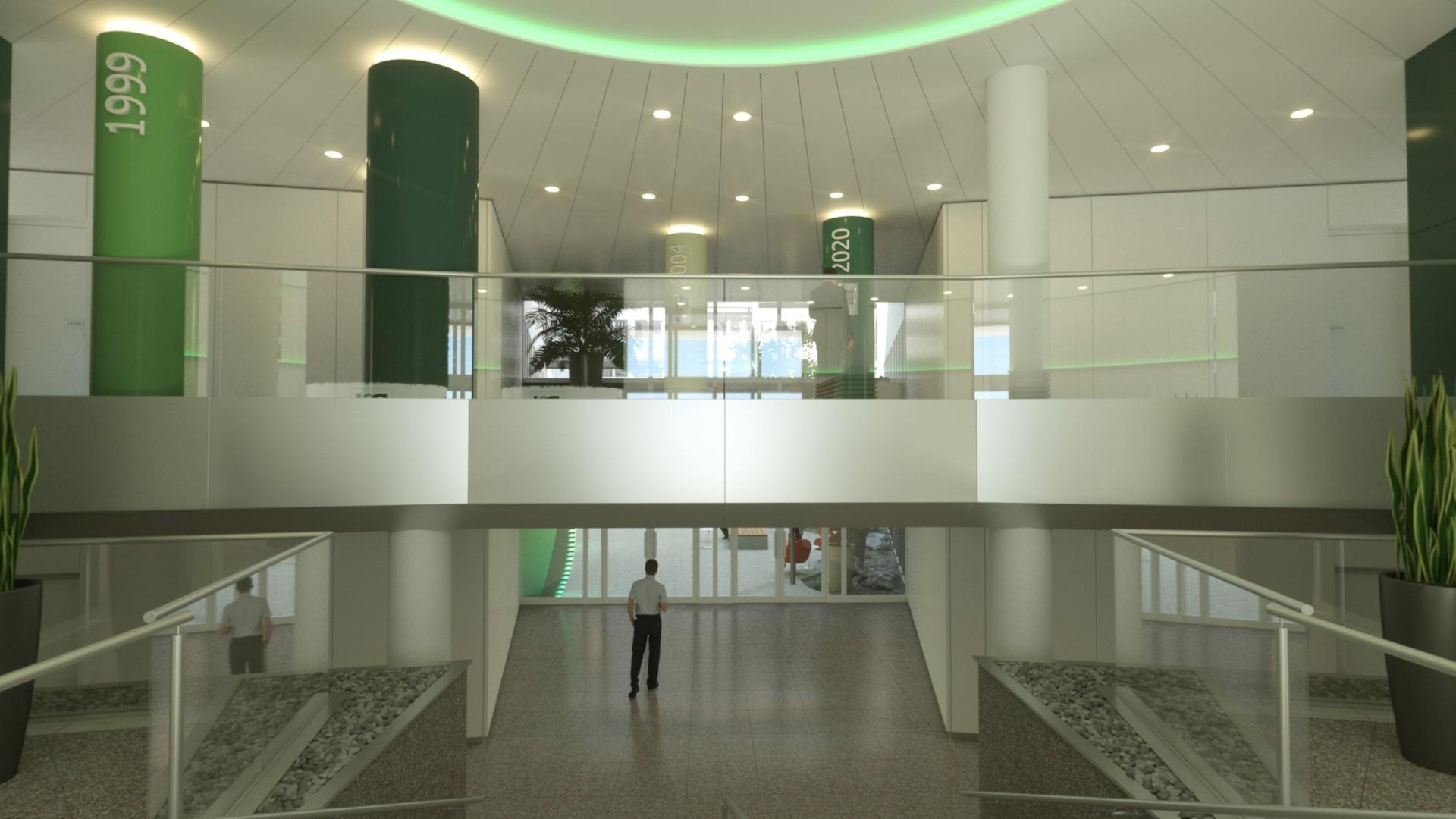P&I Visualisierung Plankosmos Foyer