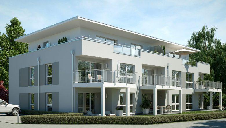 Visualisierung Wohnbauprojekt Bad Kreuznach Gartenseite