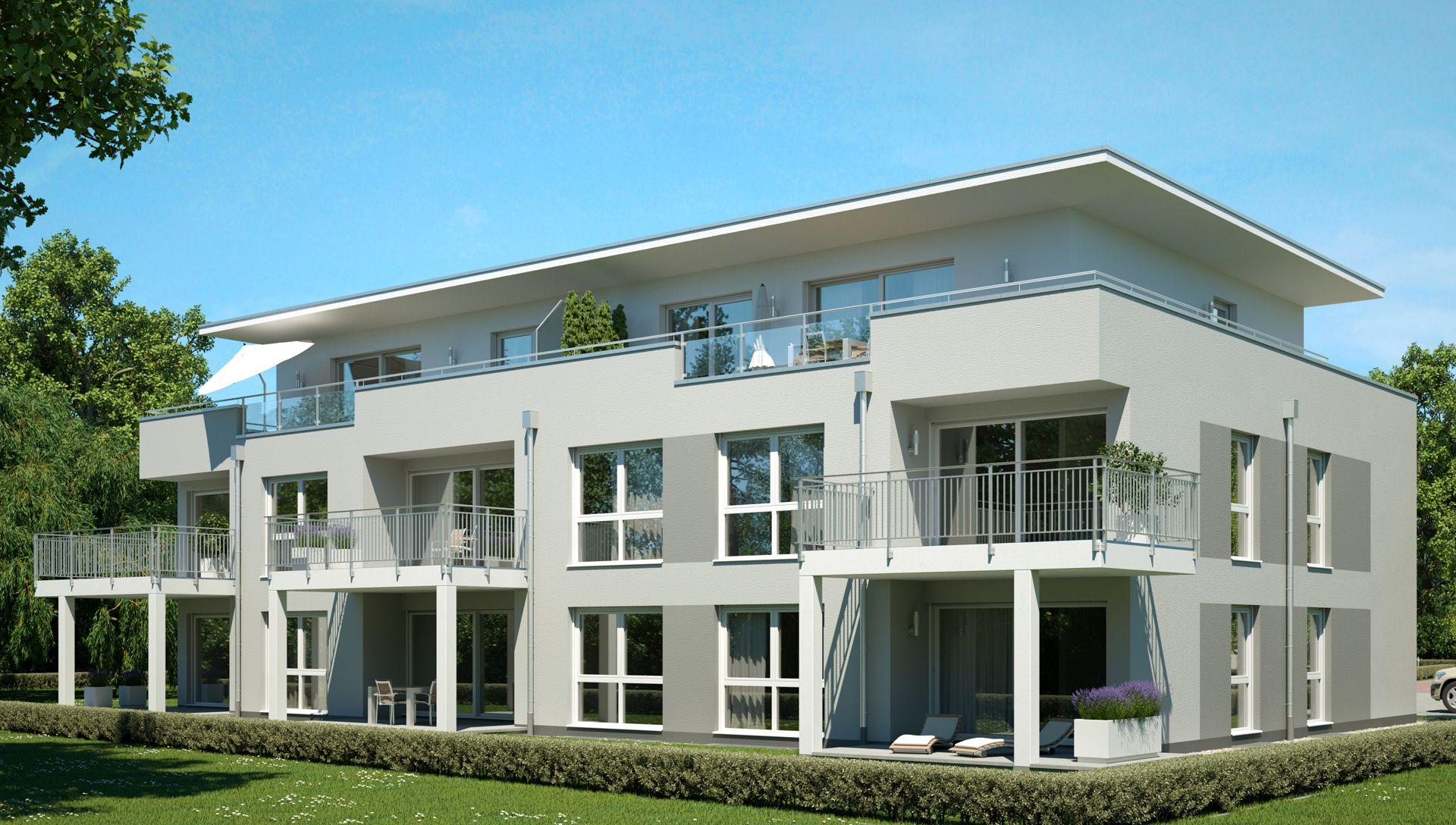 Visualisierung Wohnbauprojekt Bad Kreuznach Terrassen und Balkone