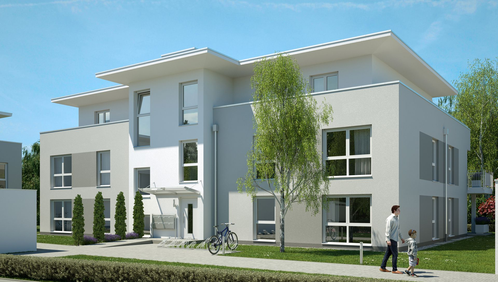 Visualisierung Wohnbauprojekt Bad Kreuznach Eingang
