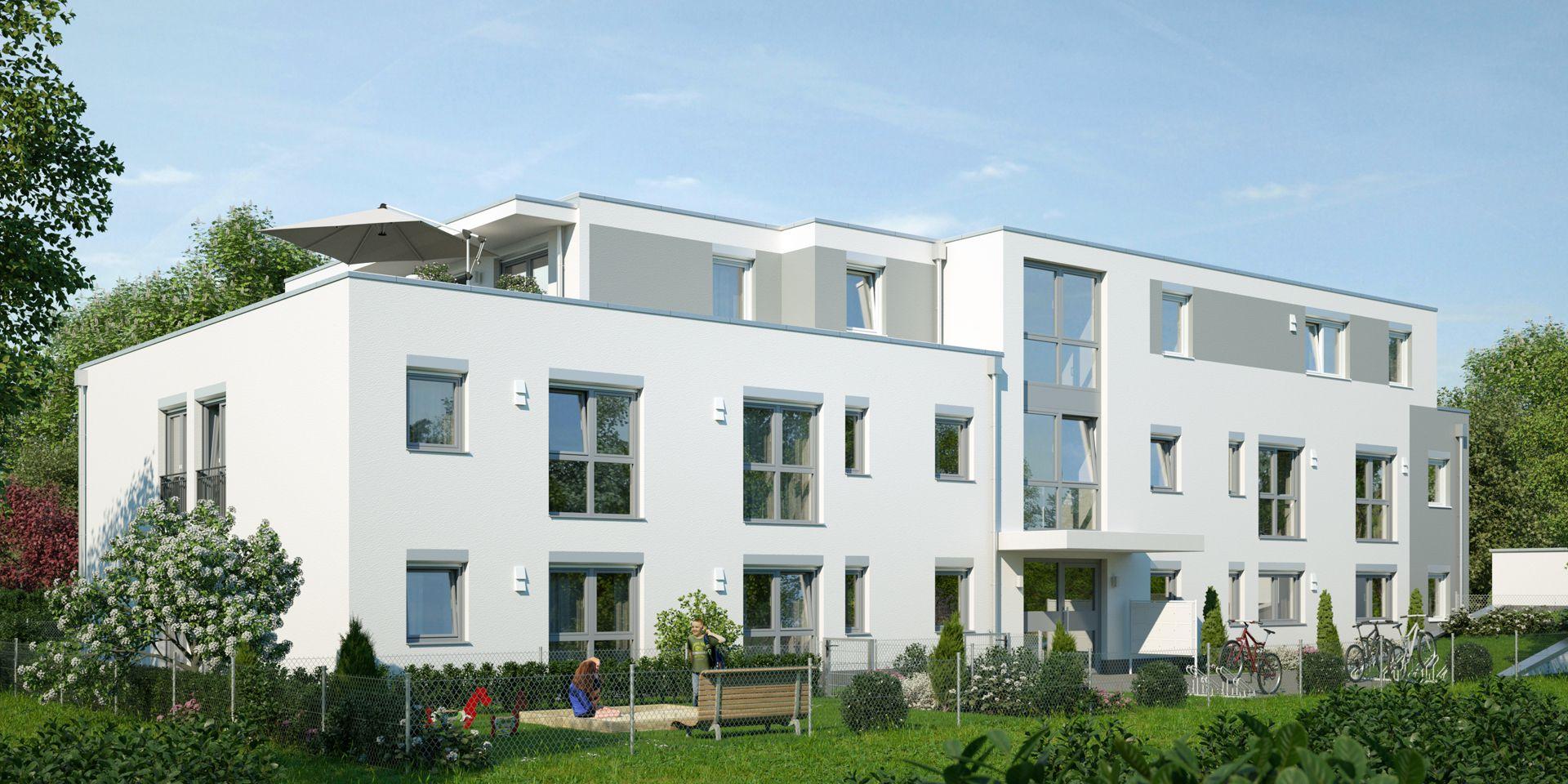 Visualisierung Mehrfamilienhaus München Eingang