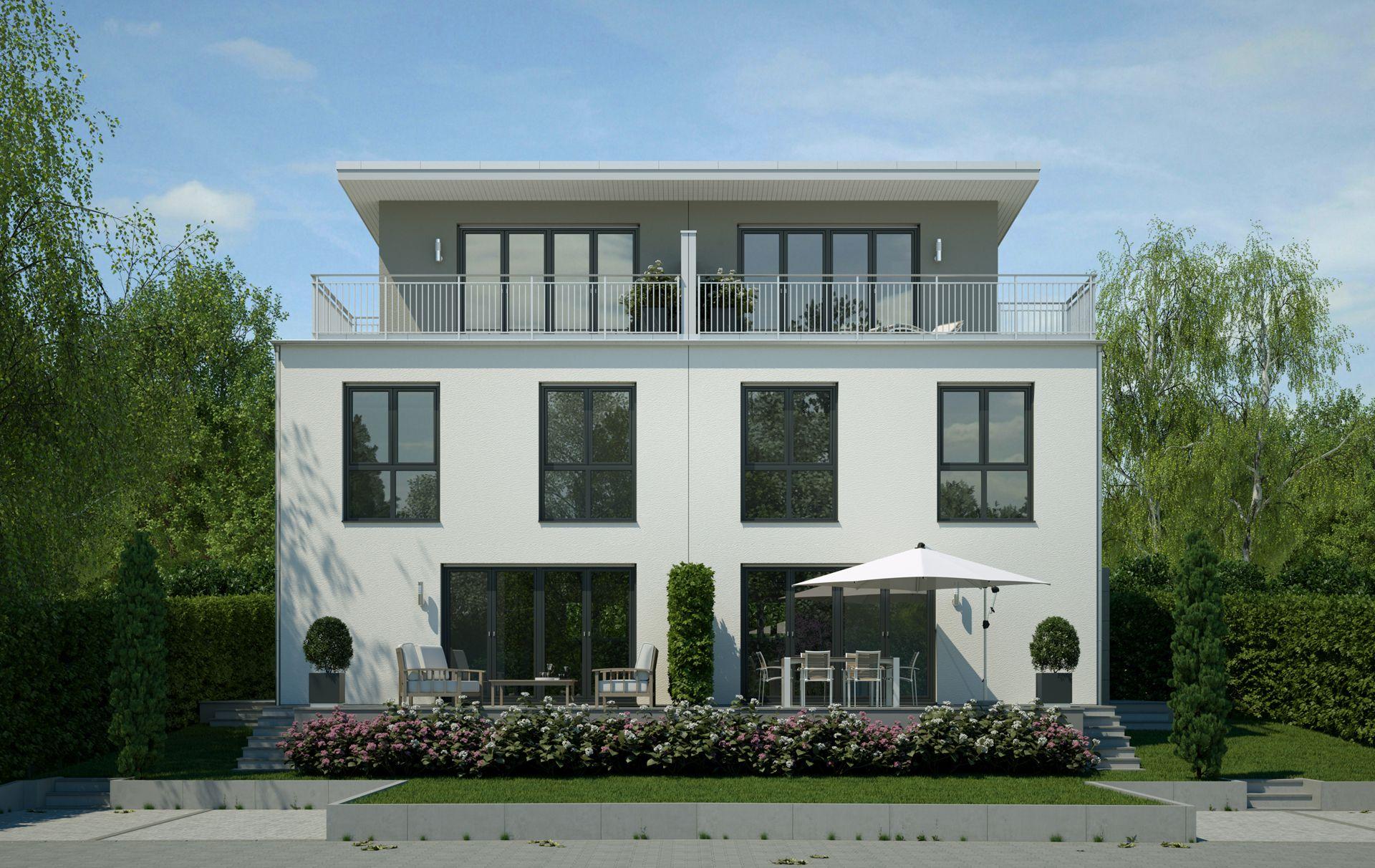 Visualisierung Doppelhaus Mannheim