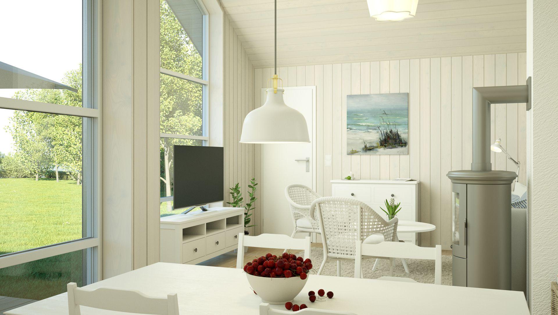 Visualisierung Feriendorf Wardersee Interieur