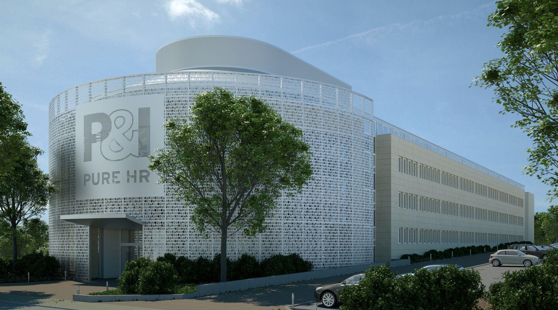 Visualisierung Fassade - Metallfassade