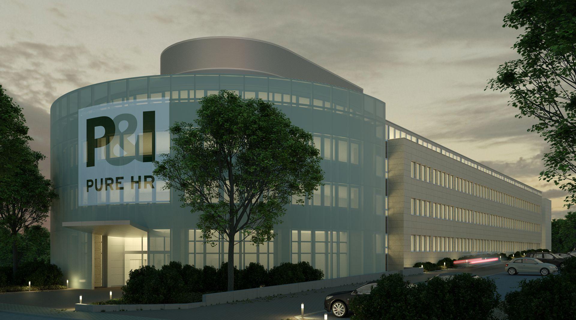 Visualisierung Fassade -Textilfassade Nachtbild