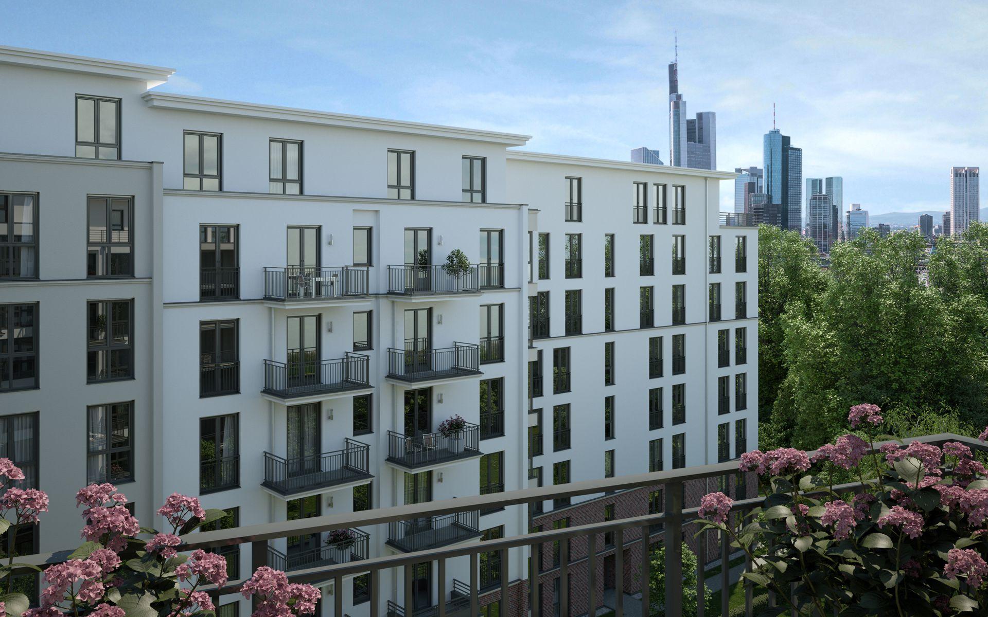 Visualisierung Wohnanlage Frankfurt