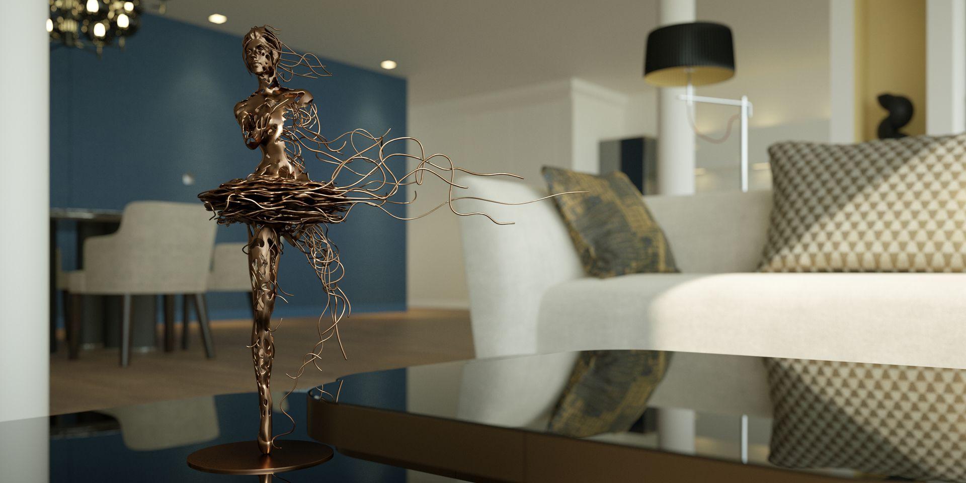 3D Visualisierung Elbphilharmonie Hamburg - Detail Ballerina