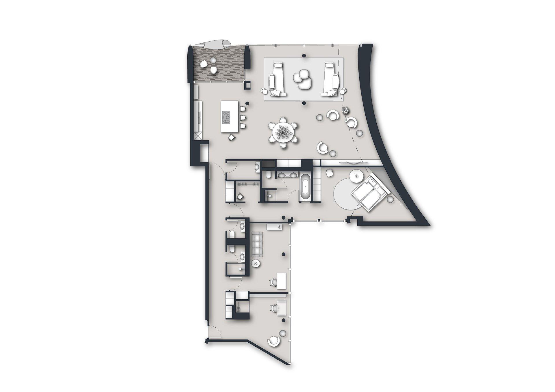 Grundriss Wohnung Elbphilharmonie Hamburg