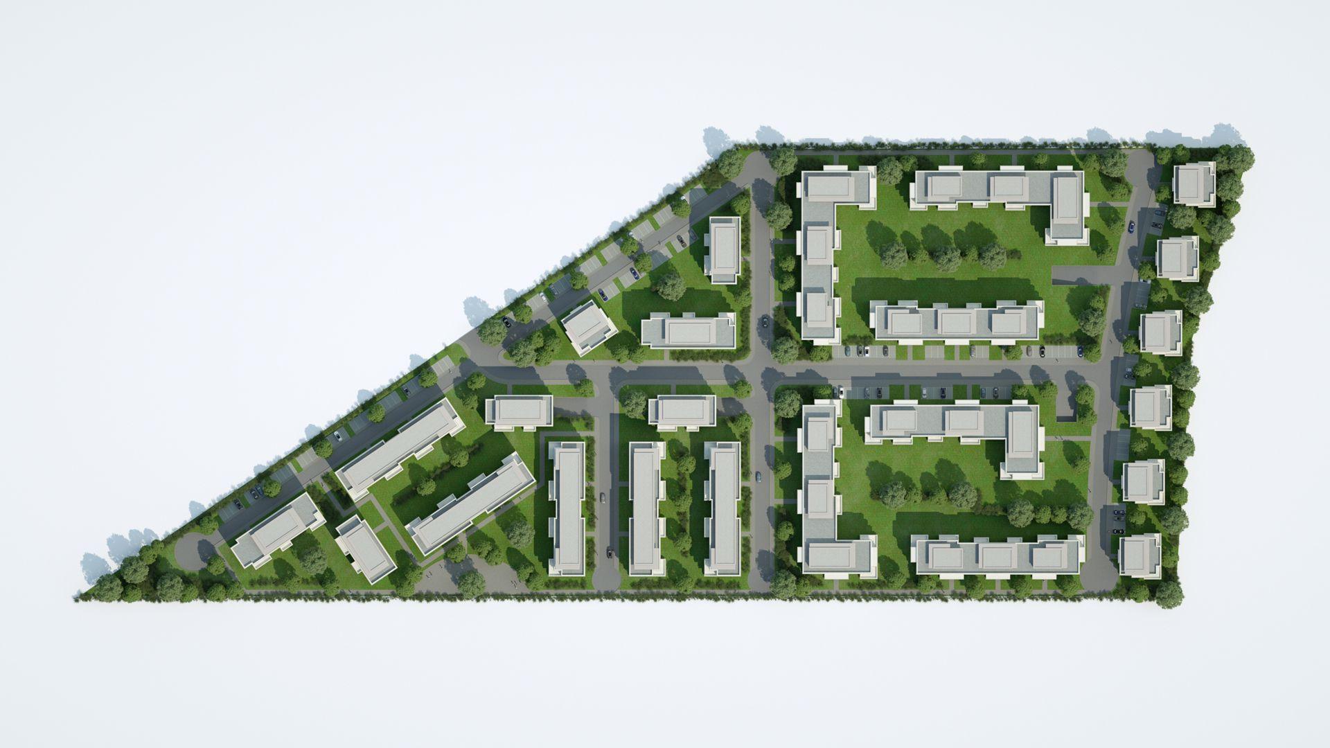 3D Visualisierung Berlin Wildau Bebauungsstudie Wohnsiedlung
