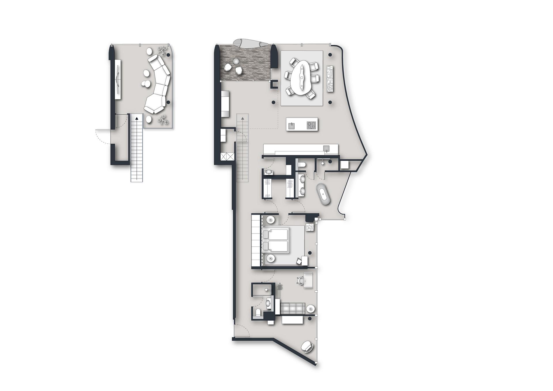 Elbphilharmonie Maisonette-Wohnung Hamburg - Grundriss