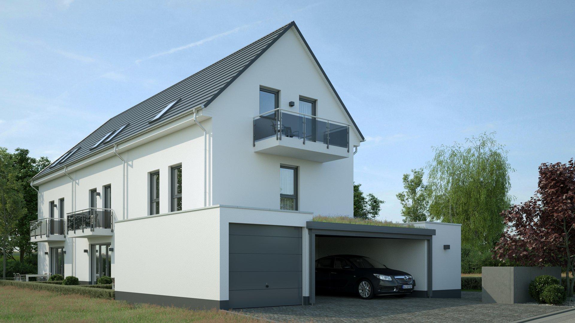 3D Visualisierung Mehrparteienhäuser Hofheim Wallau