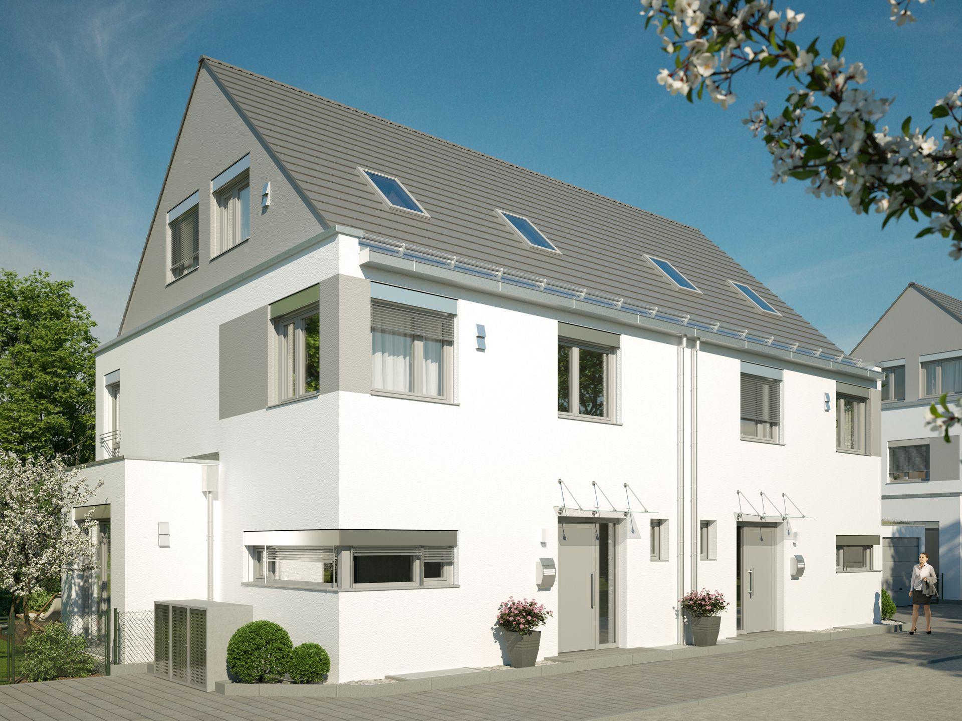 3D Visualisierung Doppelhäuser München