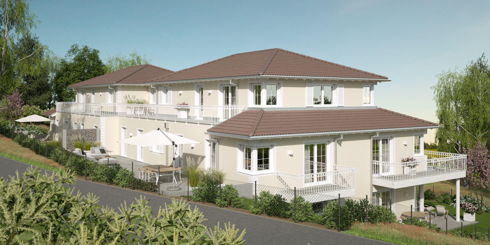 3D Visualisierung Mehrfamilienhaus Hochstetten-Dhaun