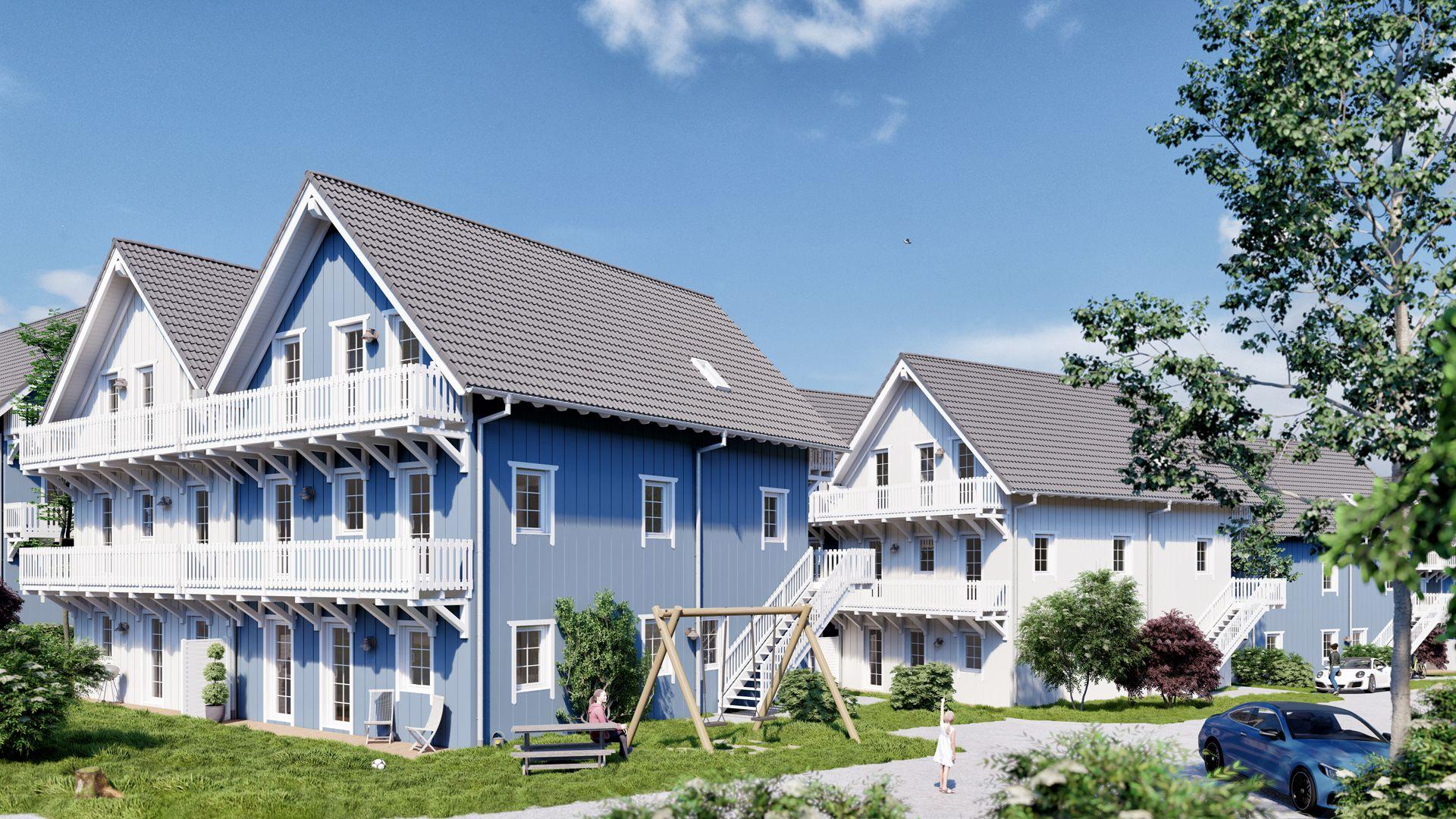 Architekturvisualisierung Ranstadt - Wohnsiedlung Exterieur 07