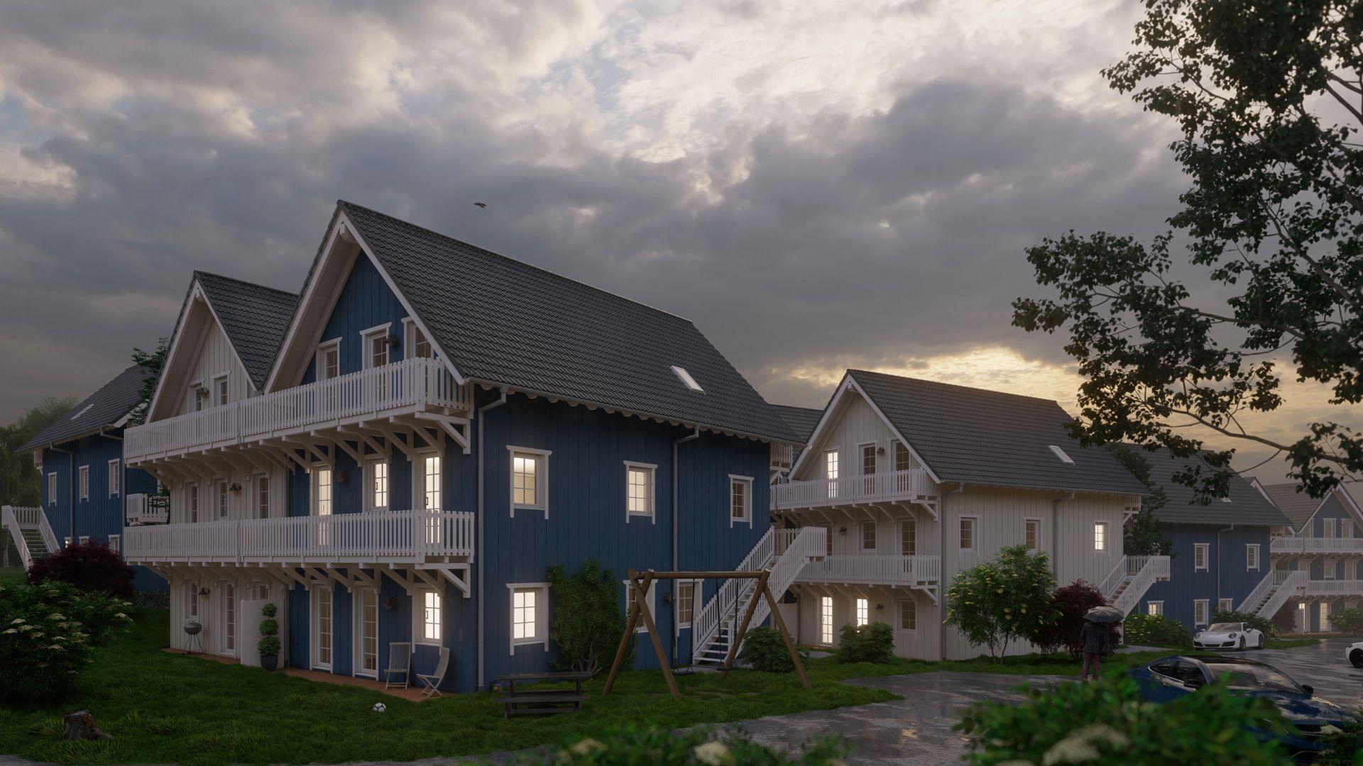 Architekturvisualisierung Ranstadt - Wohnsiedlung Exterieur 06